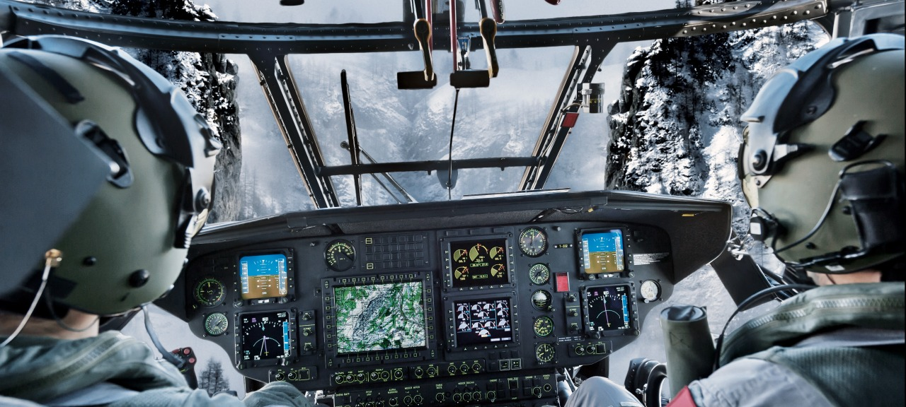 RUAG Aviation: View from the cockpit of a TH06 Super Puma helicopter